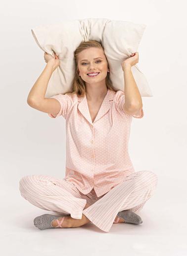 Arnetta Pijama Takım Somon